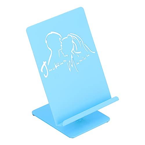 Desktop telefoon houder, herbruikbare mobiele telefoon houder ijzer voor op kantoor(T122 groot blauw)
