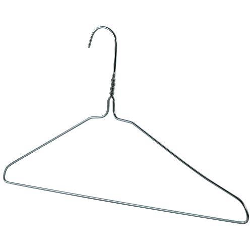 Hangerworld 100 Perchas de Metal 40cm Ahorra Espacio para Camisas Pantalones y Vestidos Tintorerías
