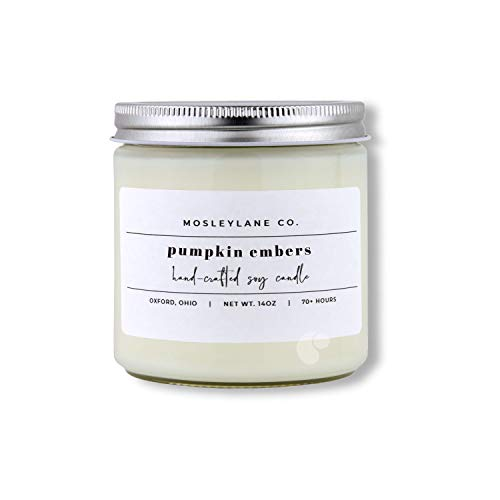 Mosley Lane · Soy Candle · Pumpkin Embers · 14 ounce · Double Wick · Hand crafted in Ohio, USA