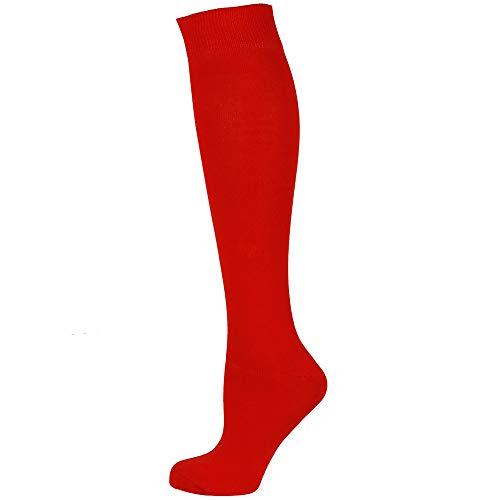 Mysocks calcetines largos lisos rojo