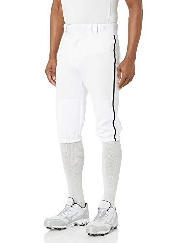 EASTON PRO+ KNICKER Baseball Pant | 2020 | Adult | Large | White Black | Scotchgard Stain Release + Moisture Wicking