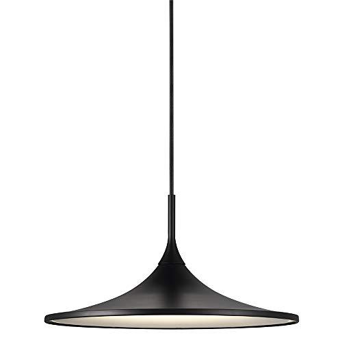 Nordlux LED-Pendelleuchte SKIP 35, Schirm Ø 35cm, Höhe 17.3cm, Pendel 300cm, 14W 3000K 1230lm 120°, Dimmbar, Schwarz EEK: A++ - A