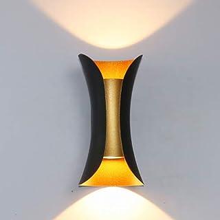 Aplique Pared Interior 10W LED Lámpara de pared Moderna, Iluminación de pared exterior impermeable IP65 3000K Blanco Cálido Perfecto para Salon Dormitorio Sala Pasillo Escalera Jardín