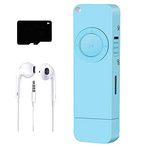 MP3 Player, Music Player with 8GB Micro SD Card, Built-in Speaker, Ultra Slim Music Player, Portable HiFi Lossless Sound, Support up to 64GB