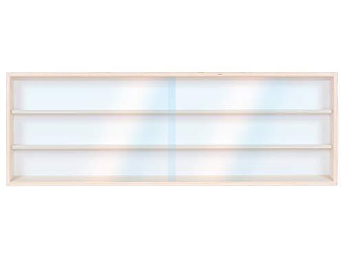 Alsino Setzkasten Wandvitrine Sammlervitrine (v-100.3) 100 cm x 30 cm x 8,5 cm Spur H0 - für leidenschaftliche Sammler