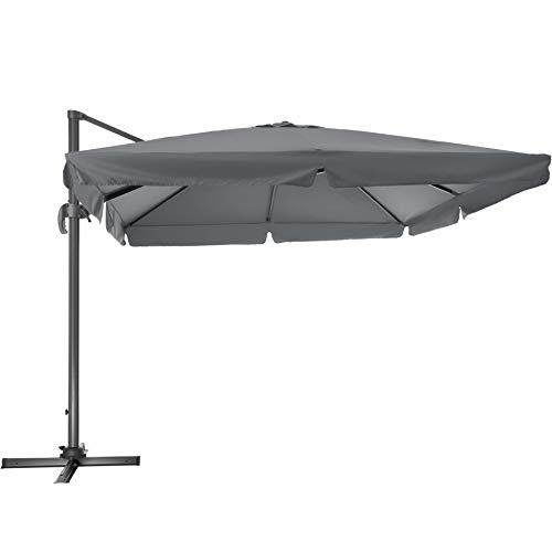 TecTake 800661 - Parasol Excéntrico, Sombrilla de Jardín,
