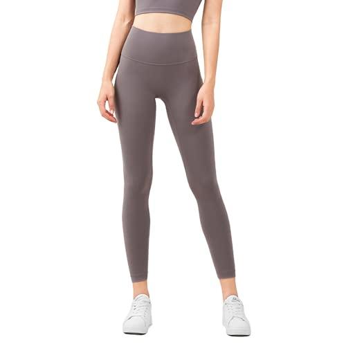 Pantalones de Yoga sin Costuras para Mujer de Color Puro, Flexiones, Celulitis, Gimnasio, Deportes, Correr, Cintura Alta, Mallas de Entrenamiento de energía, E M
