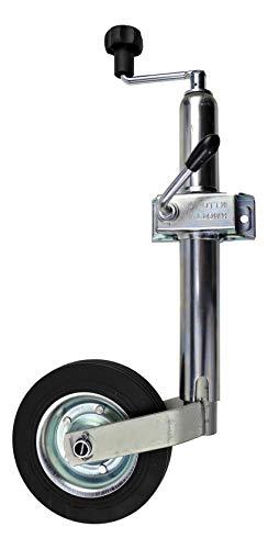 p4U Stützrad Bugrad mit Halter | inklusive Klemmschelle Original von Knott | 150kg | 48mm Aufnahme für Anhänger Wohnwagen Trailer