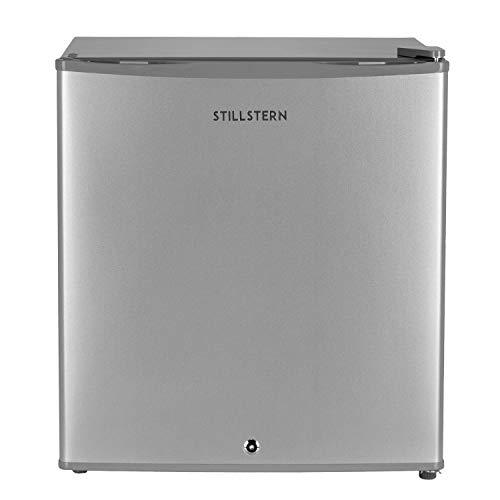 Mini-Kühlschrank mit Schloss A++ (45 Liter) Silber ✓ Leise ✓ Frostfach ✓ Abtauautomatik ✓ Eierablage ✓ Türablagen ✓ Minikühlschrank