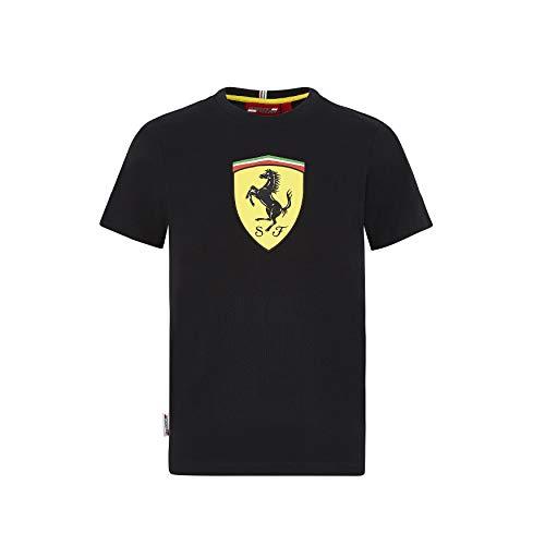 Ferrari Scuderia F1 - Camiseta para niños (talla 13-14 años), color negro