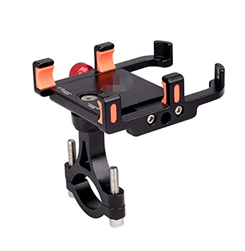 CML 360D Rotación de la aleación de la aleación de la aleación de la Bicicleta MANDARIO MANDARIO 4/6 Ajuste Ajuste Ajuste Ajuste DE GPS Soporte de Motocicleta Corchete E-Bike (Color : Black 6 Claws)