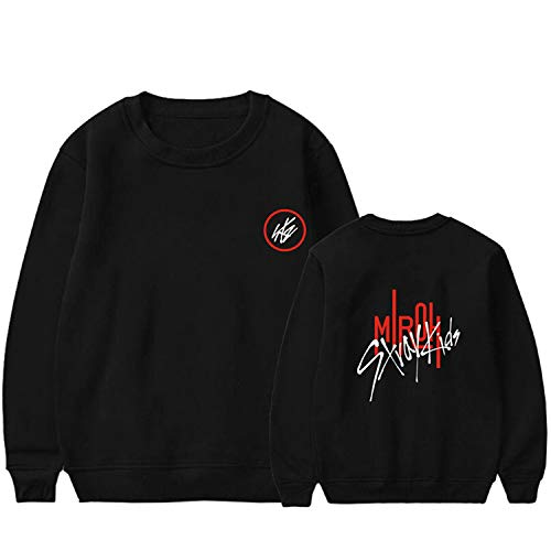 Xkpopfans Kpop Stray Kids MIROH Hoodie Sweatshirt Woojin Felix Hyunjin Minho Pullover M Black