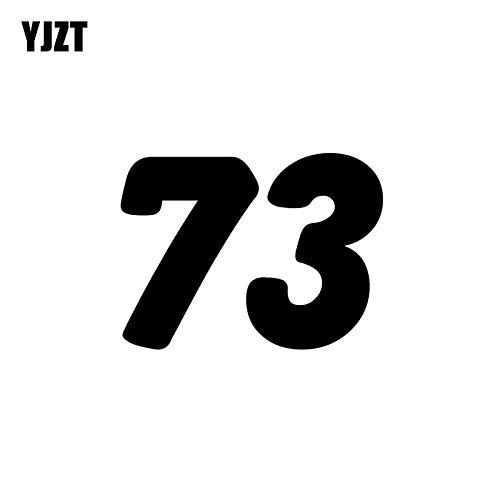 JYIP 15CM * 11.1CM Fun Racing Nummer 73 Vinyl Auto-Styling Autoaufkleber Aufkleber Schwarz/Silber Grafik C11-0770 Silber