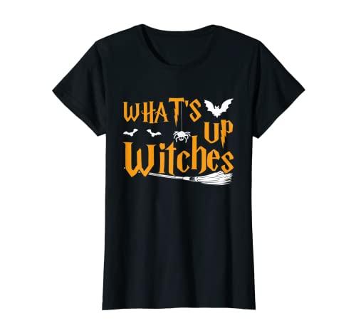 Mujer Whats up brujas simple disfraz de Halloween Camiseta
