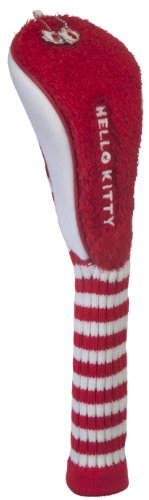 HELLO KITTY Golf Mix and Match Fairway Couvre-Fer, Rouge/Blanc