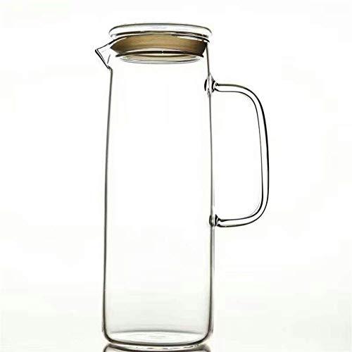 LIPENLI Resistente al calor botella de vidrio de té frío hervidor tapa contra explosión tetera botellas de agua fría de vidrio mayor