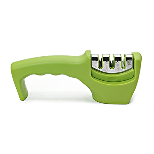 afilador de cuchillo Afilador rápido, Afilador de ángulo fijo para el hogar, Artefacador de diamantes portátiles, herramienta de cocina (Color : Blue)
