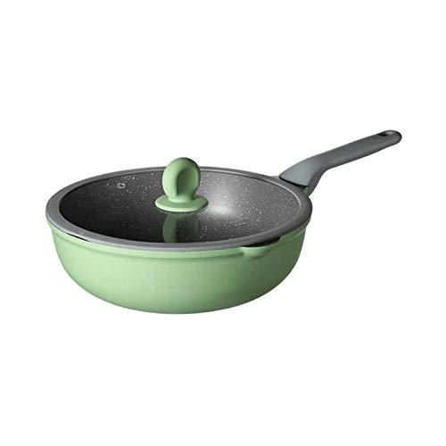 Z-COLOR 30cm stick sarten sin humo wok wok wok cocina gas universal sin palmado de sartén olla para la olla de la cocina