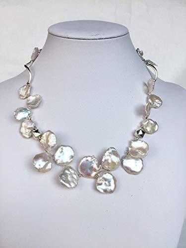 Girocollo donna in perle di fiume iridescenti'ARMONIA'
