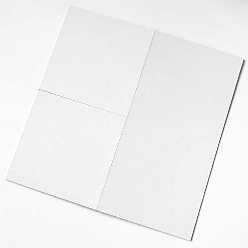 Spieltz DIY Spiel: Blanko Spielbrett zum Gestalten, leeres Spielbrett weiß, beidseitig beschreibbar, made in Europe. (1)