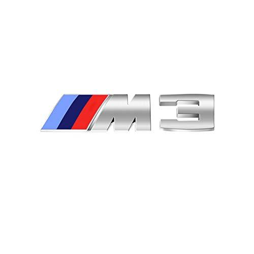 Dodoro Silberne M-Logo-Aufkleber für den Kofferraum, dreifarbig, für BMW alle Sport 1, 2, 3, 4, 5, 6, X1, X2, X3, X4, X5, X6 M-Serie (M3)