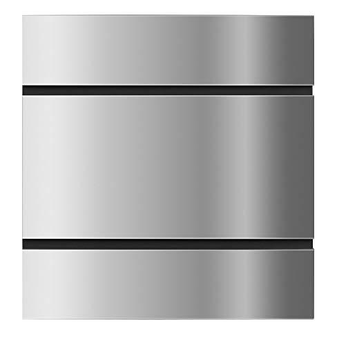 Frabox® Edelstahl Design Briefkasten LENS, Zeitungsfach, super Regenschutz, Made in Germany