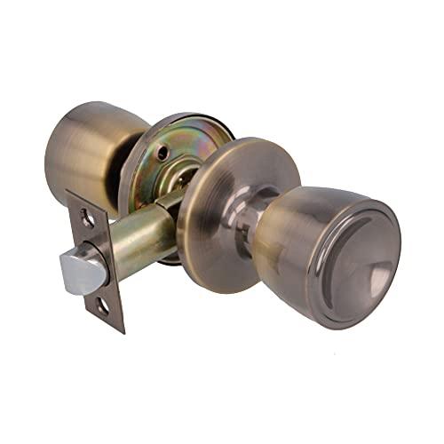 AMIG 11116 - Pomo de paso Mod. 601 | Latón | Acabado cuero | Tipo copa | Picaporte de entrada 60/70 mm