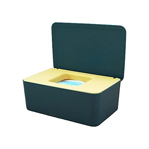 Caja de pañuelos Caja de almacenamiento Bebé Toallita húmeda Dispensador Flip Cover Caja de almacenamiento a prueba de polvo 53Cb