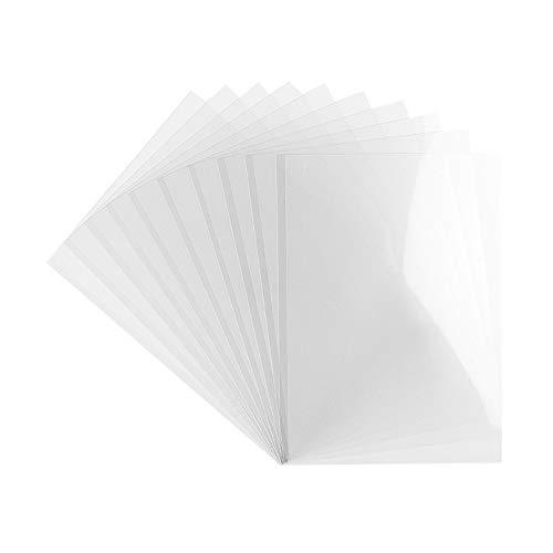 Ideen mit Herz Windradfolie | Transparent-Folie | Mobile-Folie | transparent | 0,2 mm | 10 Stück (Din A5)
