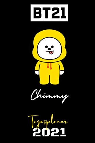 BT21 - 2021 BTS DAILY PLANNER – Chimmy – Deutsche Edition – (6 x 9 inches) Calendar / Diary / Journal / annual / organiser / unofficial (BT21 DEUTSCHE DAILY PLANNERS) (German Edition)