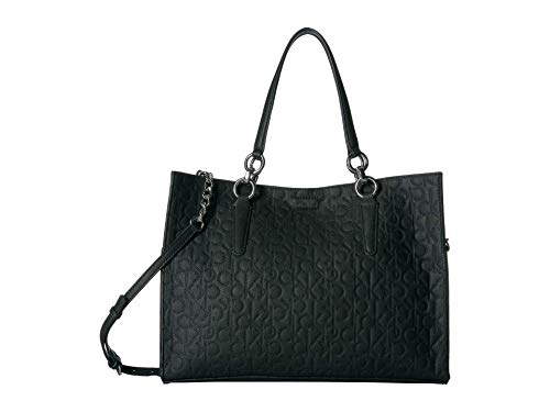 Calvin Klein Reversible East/West Novelty Box Tote Black One Size