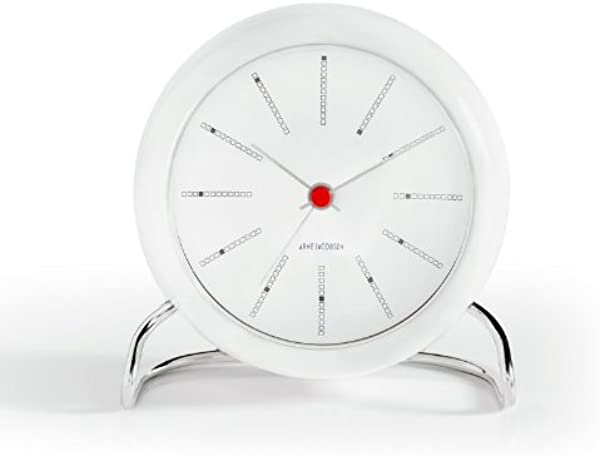 Arne Jacobsen Table Clock Banker In White