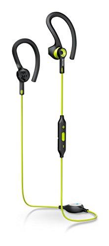 Philips SHQ7900CL/00 Sportkopfhörer mit Bluetooth (3 Tragestile, regenbeständig) schwarz/grün