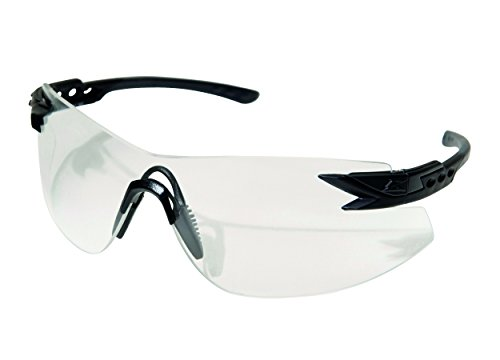 Edge Tactical Safety Eyewear, Notch, matt Schwarz, antikratzbeschichtet, beschlagfrei Clear Vapor Shield