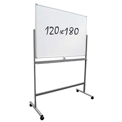 Mobiel whiteboard, dubbelzijdig, magnetisch, 120 x 180 cm