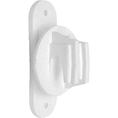 AgraTronix I-4 Post Insulator - [Pack of 25], White, Electric Fence Wire Holding Insulator for. WoodVinyl Posts | Fencing Accessories