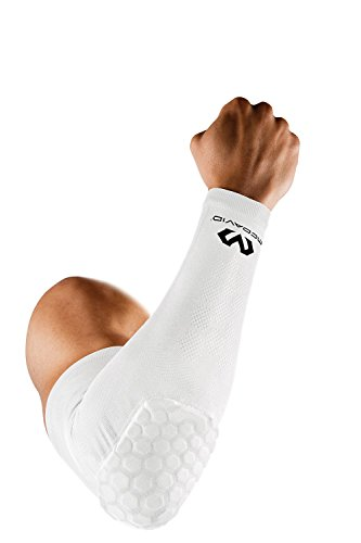 McDavid Sports and Medical Products, Hex, Sports Compression Sleeve with Elbow Pad for Baseball, Football, Basketball, Golf, Elbow Support for Lymphedema, Arthritis with UV Protection, Mangas