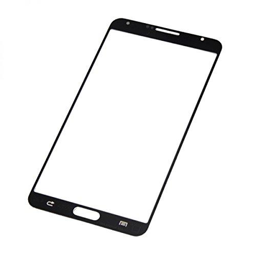LCD Bildschirm Frontscheibe Glas-Linse Front Glas Ersatz für Samsung Galaxy Note 3 N9000 N9005 - Schwarz + Kleber