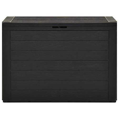 Festnight Auflagenbox Wasserdicht Sitzbank mit Stauraum Aufbewahrungsbox Auflagenbox Kissenbox Gartenbox Anthrazit 78x44x55 cm