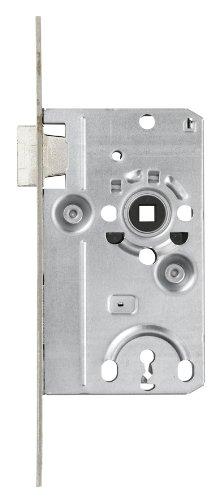 ABUS Tür-Einsteckschloss mit Buntbartschlüssel TK20 Stumpf S R silber für DIN-rechts Türen 57201