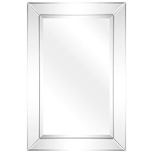 Empire Art Direct Rectangle Modern Wall Beveled Mirror Panels Frame   Bathroom, -