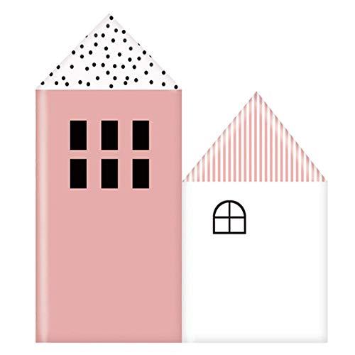 Tapete Weiche Wandpaneele Wandverkleidung Dekor Fliesen Wandaufkleber Kinderzimmer Kollision Weicher Fall Karikatur Selbstklebend, 4 Farben, 6 größen ( Color : Pink , Size : 600x750mm )