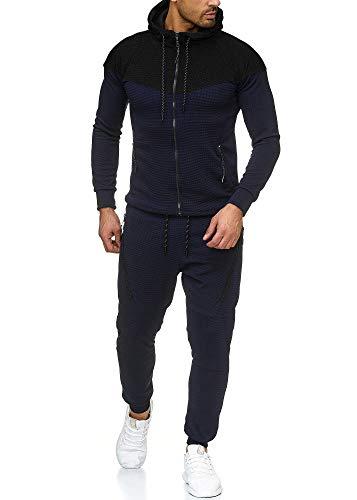 Violento Herren Jogging-Anzug 0984 (M-Slim, schwarz/Navy)