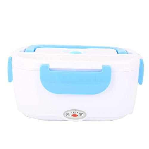 Lunch box portatile, bento box riscaldante elettrico in acciaio inossidabile, contenitori per alimenti a tenuta stagna per viaggi in ufficio, picnic (100-240 V)(Azzurro)