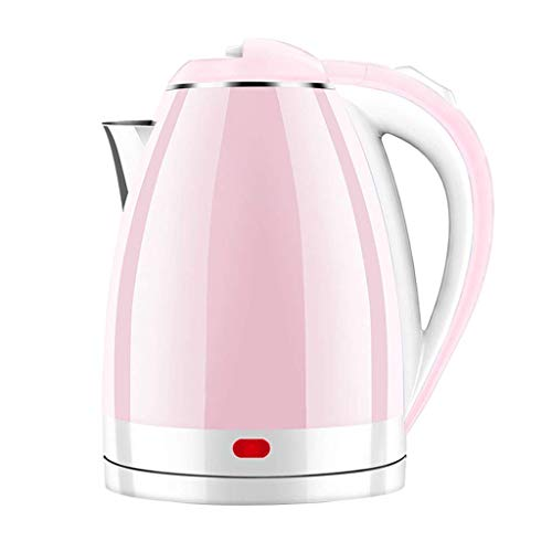 Bollitore elettrico Bollitore elettrico in acciaio inossidabile 304, spegnimento automatico ebollizione rapida bollitore elettrico per uso domestico ad alta capacità bollitore elettrico 2L (rosa)
