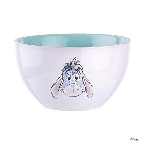 BUTLERS Disney Müslischale mit Winnie Pooh Design - Frühstücks-Schale Motiv I-Aah in Weiß-Pastellblau