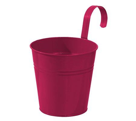 Dehner Semoir Pot à Arceau avec Support, Ø 14 cm, Hauteur 14 cm, Zinc, Rose