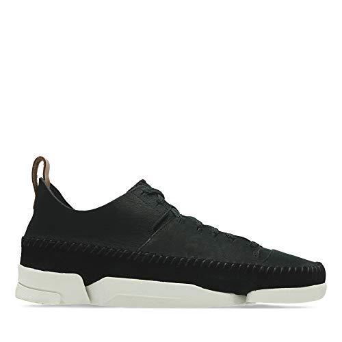 Clarks Damen Trigenic Flex Sneaker, Schwarz (Black Nubuck), 38 EU
