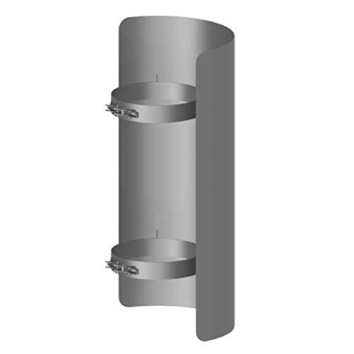 Ø 150 mm Ofenrohr Strahlungsschutz 50 cm Gussgrau