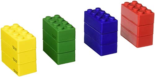 Assorted Color Foam Building Block Inspired Stress Squeeze Toys (12)